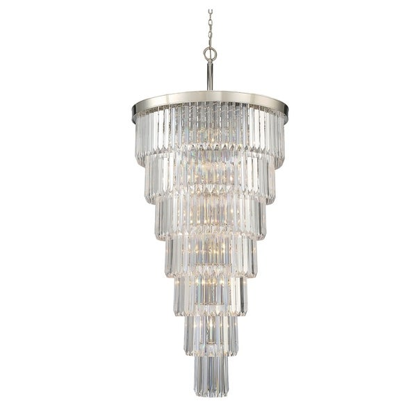 Tierney 19 Light Chandelier Polished Nickel