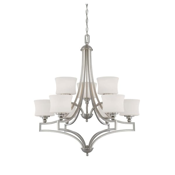 Savoy House Terrell Satin Nickel 9-light Chandelier