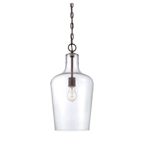 Savoy House Franklin Bronze Metal and Glass 1-light Pendant