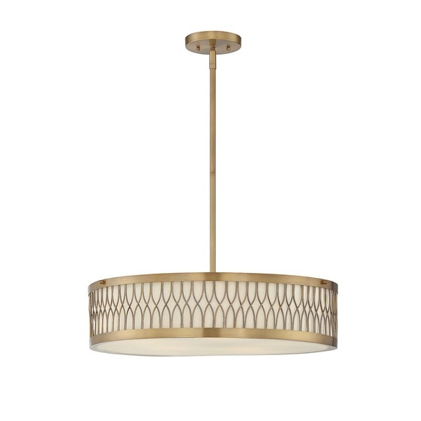 Savoy House Spinnaker Warm Brass Pendant