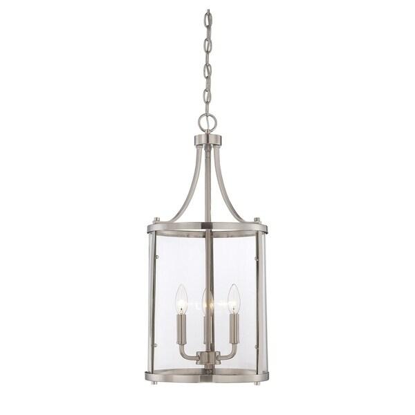 Penrose 3 Light Small Foyer Lantern Satin Nickel