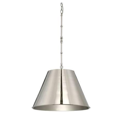 Carson Carrington Skudeneshavn 1-light Polished Nickel Pendant