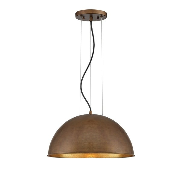 Savoy House Sommerton Rubbed Bronze/Gold Leaf 1-light Pendant Light