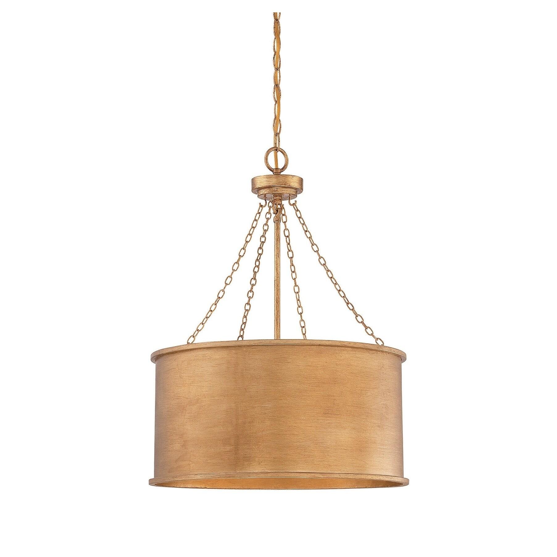 Rochester 4 Light Pendant Gold Patina