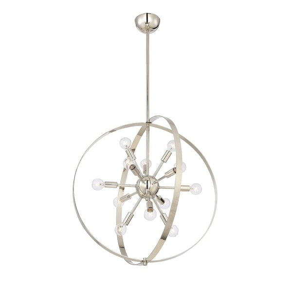 Savoy House Marly Polished Nickel 12-light Chandelier