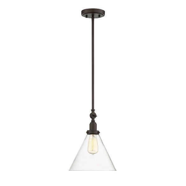 Savoy House Drake English Bronze 1-light Pendant with Clear Glass Shade