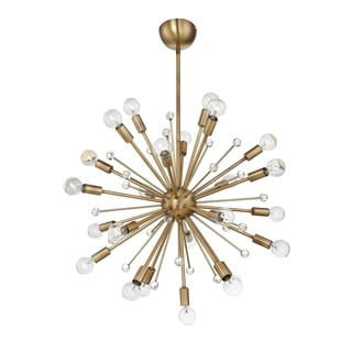 Savoy House Galea Warm Brass Metal 24-light Chandelier - Thumbnail 0