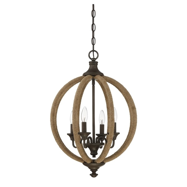 Savoy House Findlay Artisan Rust Metal 4-light Pendant