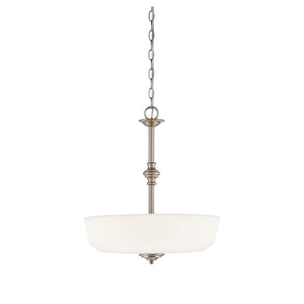 Melrose Satin Nickel 3-light Pendant