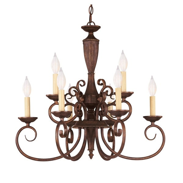 Liberty 9 Light Chandelier Walnut Patina