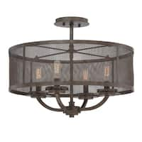 Nouvel Convertible 4 Light Semi-Flush Galaxy Bronze