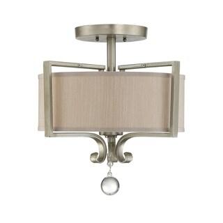 Rosendal Semi-Flush Silver Sparkle