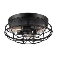 Carbon Loft Yunus English Bronze 15-inch Flush Mount