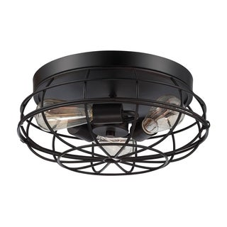 Scout 15 Inch Flush Mount English Bronze