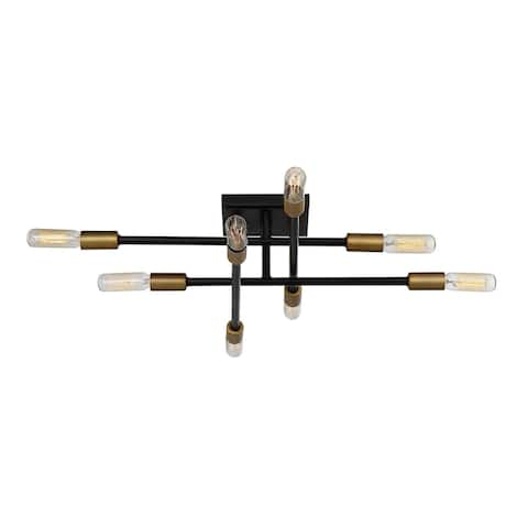 Carson Carrington Skudeneshavn Bronze 8-light Semi-flush Pendant