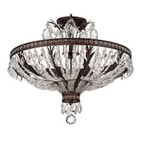 Savoy House Sheraton New Tortoise Shell Metal 5-light Semi-flush Fixture