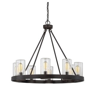Savoy House Inman English Bronze 8-light Outdoor Chandelier