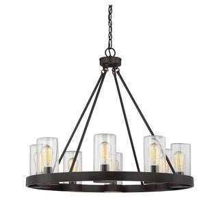 Savoy House Inman English Bronze 8 Light Outdoor Chandelier