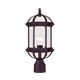 Kensington Post Lantern Textured Black
