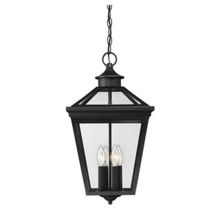 "Ellijay 12"" Steel Hanging Lantern Black"