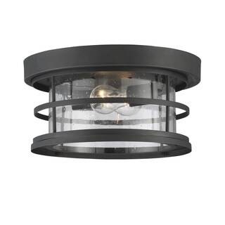 "Barrett 13"" Outdoor Ceiling Light Black"