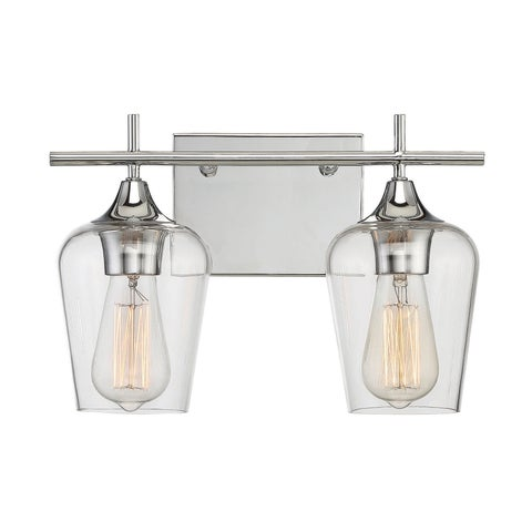 Octave 2 Light Bath Bar Polished Chrome