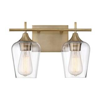 Carson Carrington Alta 2-light Bath Bar Warm Brass