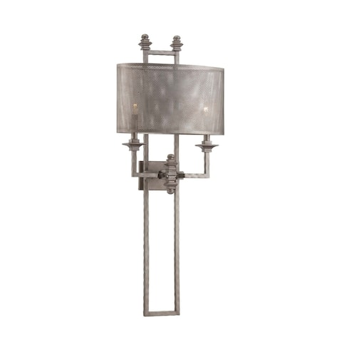 Structure 2 Light Sconce Aged Steel