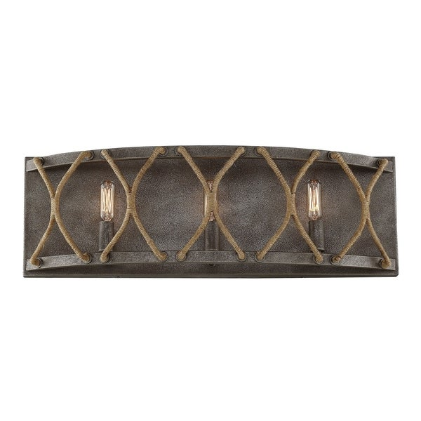 Savoy House Keating Artisan Rust Finished Metal 3 Light Bath Bar