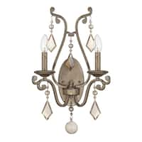 Savoy House Rothchild Oxidized Silver Metal 2-light Sconce