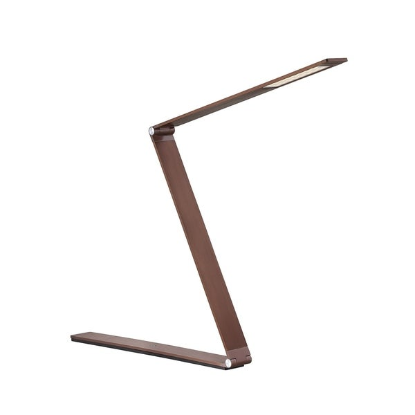 Fusion Z LED Task Lamp with Dimmer Rose Gold Bronze