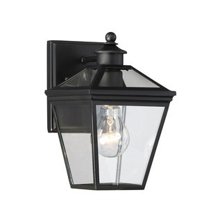 "Ellijay 7"" Steel Wall Lantern Black"