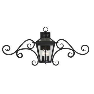 "Ellijay 9"" Steel Wall Lantern w/Mustache Black"