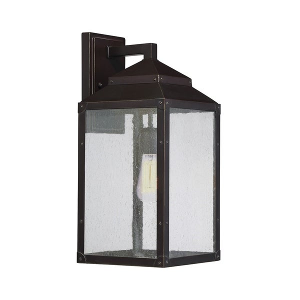 Brennan Outdoor Wall Lantern English Bronze with Gold