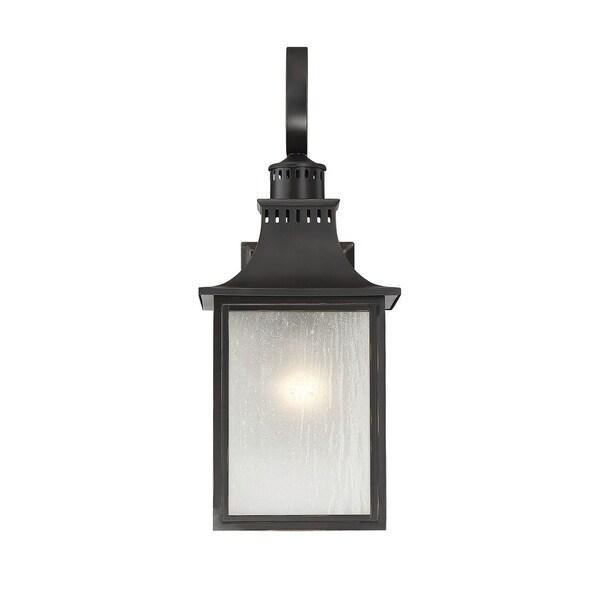 Savoy House Monte Grande Slate Cream Black Steel Glass Wall-mounted Lantern