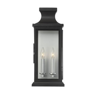 Savoy House Brooke Black Steel 2-light Wall Lantern