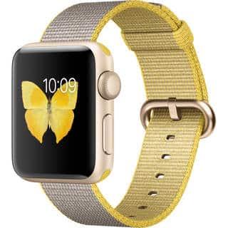 Apple Watch Series 2 38mm Smartwatch (Gold Aluminum Case, Yellow/Light Gray Woven Nylon Band)|https://ak1.ostkcdn.com/images/products/17371409/P23612623.jpg?impolicy=medium