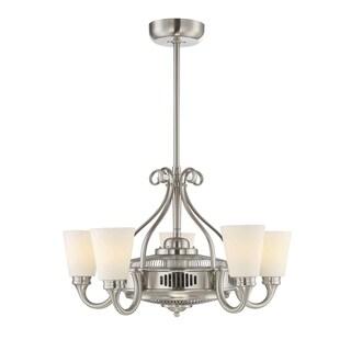 Savoy House Borea D'lier Satin Nickel/Pewter Air-ionizing Fan