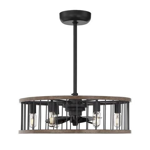 Kona 8 Light Fan D'lier Combination