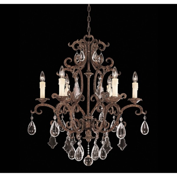 Florence 6 Light Chandelier New Tortoise Shell