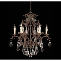 Florence New Tortoise Shell 6-light Chandelier