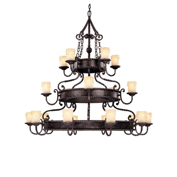 San Gallo Slate 20-light Chandelier