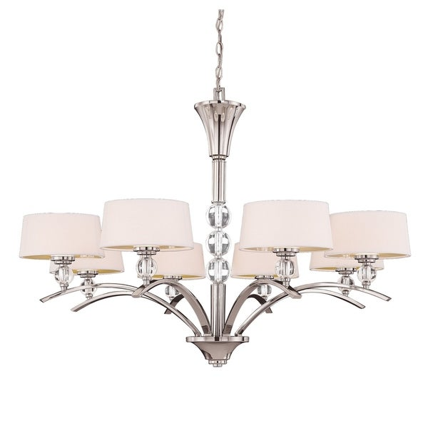 Murren 8 Light Chandelier Polished Nickel