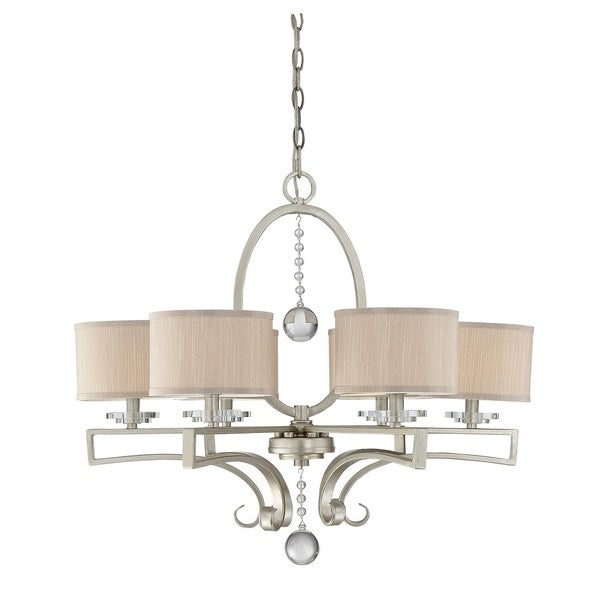 Rosendal 6 Light Chandelier Silver Sparkle
