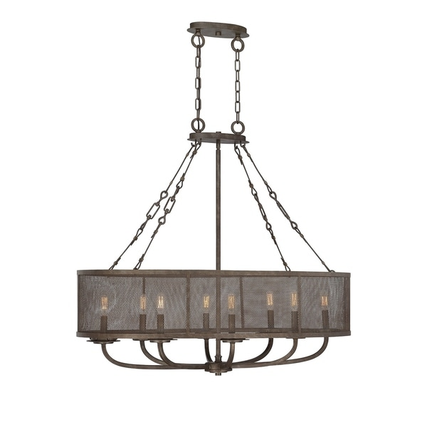 Nouvel 8 Light Oval Chandelier Galaxy Bronze