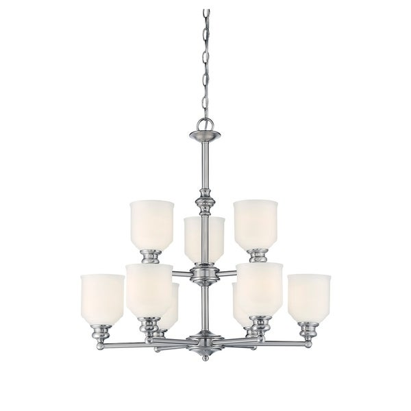 Melrose 9 Light Chandelier Polished Chrome