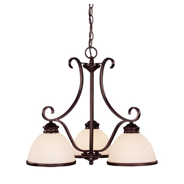 Willoughby 3 Light Chandelier English Bronze