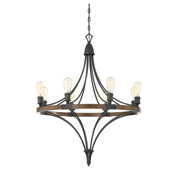 Savoy House Turing Whiskey Wood 8-light Chandelier