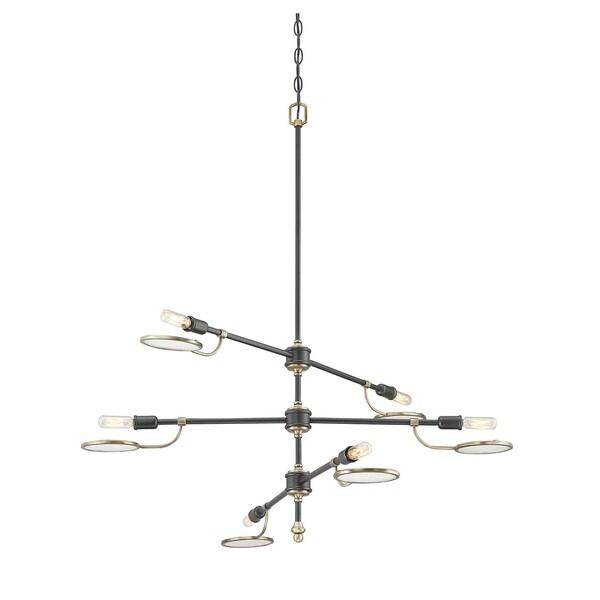 Savoy House Oberyn Vintage Black with Warm Brass Metal 6-light Chandelier