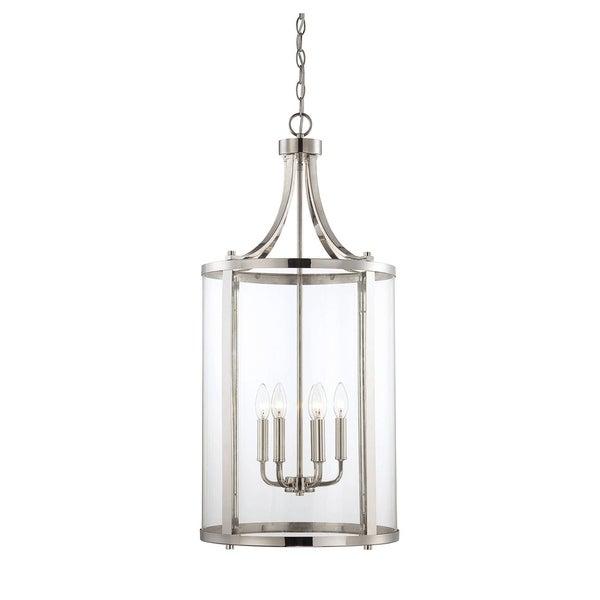 Savoy House Penrose Nickel Metal and Glass 6-light Medium Foyer Lantern
